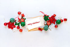 Christmas Banner Red White Holiday Toys Letter Royalty Free Stock Image