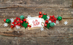 Christmas Banner Red White Holiday Toys Letter Royalty Free Stock Photo