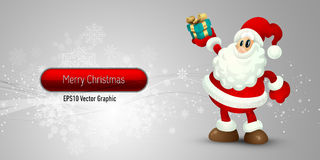 Christmas Banner with Santa Claus Stock Image