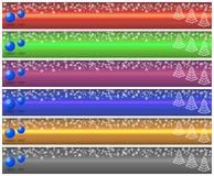 Christmas banner set (01) Stock Photos