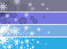 Christmas banner set. Text place for your christmas advert Royalty Free Stock Photo
