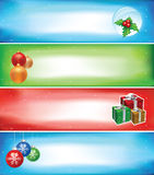 Christmas banner set. Four different christmas banner set. CMYK colors. visit my prtfolio for other christmas works Royalty Free Stock Photos