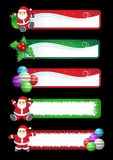 Christmas banner set. Vector Christmas banner set. five banners Royalty Free Stock Image
