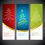 Christmas banner set Stock Images