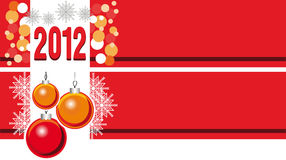 Christmas  Banner Set. A set of banners for Christmas greetings krasnooranzhevyh colors Stock Photos