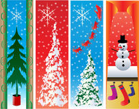 Christmas Banner Set Royalty Free Stock Images