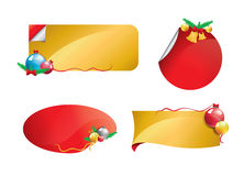 Christmas banner set 1 Royalty Free Stock Photography