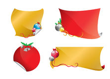 Christmas banner set 2 Stock Photos