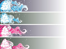 Christmas banner set eps8. Shiny christmas banner set for your business Royalty Free Stock Image