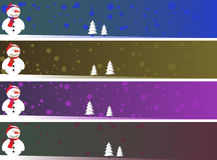 Christmas banner set eps8 Stock Photos