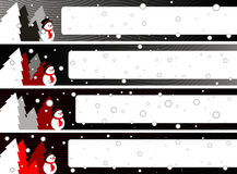 Christmas banner set eps8 Royalty Free Stock Photos