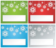 Christmas banner set2 Stock Image