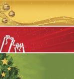Christmas Banner Set of Three stock illustration