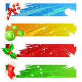Christmas banner set vector. Set of christmas banner vector Royalty Free Stock Photo
