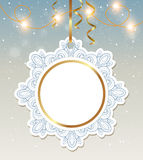 Christmas banner with shining garland Stock Photography