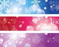 Christmas banner with snowflakes Royalty Free Stock Photography