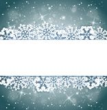 Christmas banner with snowflakes. Vector shining Christmas banner with snowflakes. Holiday background for Christmas card Royalty Free Stock Photo