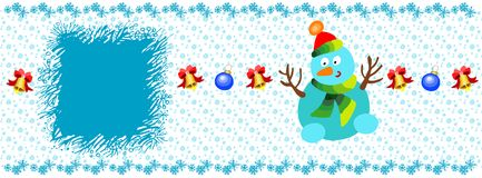 Christmas banner, template. Christmas banner with fir branches decorated, festive header design for your site Stock Image