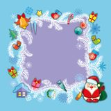 Christmas banner, template. Christmas banner with fir branches decorated, festive header design for your site Stock Photo