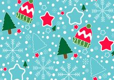 Christmas banner vector background template colorful elements like gifts and decorations. Vector illustration royalty free stock image