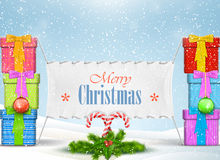 Christmas banner vector illustration. Royalty Free Stock Images