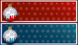 Christmas banner. Vector illustration, Christmas themed banner, both in warm and cold colors. Large sRGB JPG provided Royalty Free Stock Photography