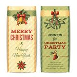 Christmas banner vertical Royalty Free Stock Photos
