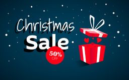 Christmas banner, Xmas snowflakes stock images