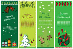 Christmas banners. Collection of four vertical Christmas banners Stock Photo