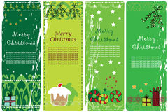 Christmas banners. Collection of four vertical Christmas banners Royalty Free Stock Image