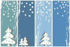 Christmas banners. Collection of four vertical Christmas banners Stock Images
