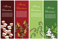 Christmas banners. Collection of four vertical Christmas banners Royalty Free Stock Photography