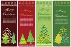 Christmas banners. Collection of four vertical Christmas banners Royalty Free Stock Images