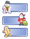 Christmas banners. Isolated Christmas set Royalty Free Stock Images