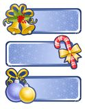 Christmas banners. Isolated christmas set Stock Photography