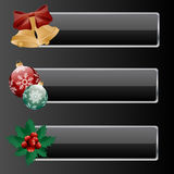 Christmas banners. Banners with a christmas decoration. Vector illustration Stock Photography