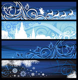 Christmas Banners. All elements and textures are individual objects. Vector illustration scale to any size Stock Photos
