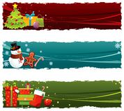 Christmas banners. Set of colorful Christmas banners stock illustration