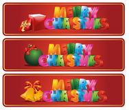 Christmas banners. Set of beautiful Christmas banner Stock Photography