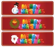 Christmas banners. Set of beautiful Christmas banner Stock Image