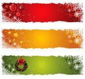 Christmas banners. Colorful Christmas banners with snowflakes Stock Photos