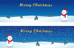Christmas banners. Two banners that represent a christmas landscape Stock Images