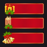 Christmas banners. Banner collection to celebrate Christmas and new year Royalty Free Stock Images