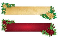 Christmas banners,  Royalty Free Stock Photos