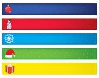 Christmas banners. Five christmas banners  illustration Royalty Free Stock Photography