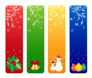 Christmas banners. Four colorful christmas banners isolated on white background Royalty Free Stock Images