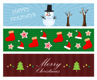 Christmas banners. A variety of banners with christmas holiday theme Stock Image
