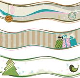 Christmas banners. Vector Christmas banners in the style retro Royalty Free Stock Photography