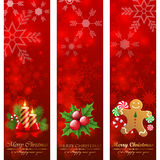 Christmas banners. Christmas vertical banners. Vector illustration royalty free illustration