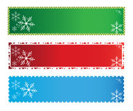 Christmas banners. Three colorful christmas banners on white background Stock Photos